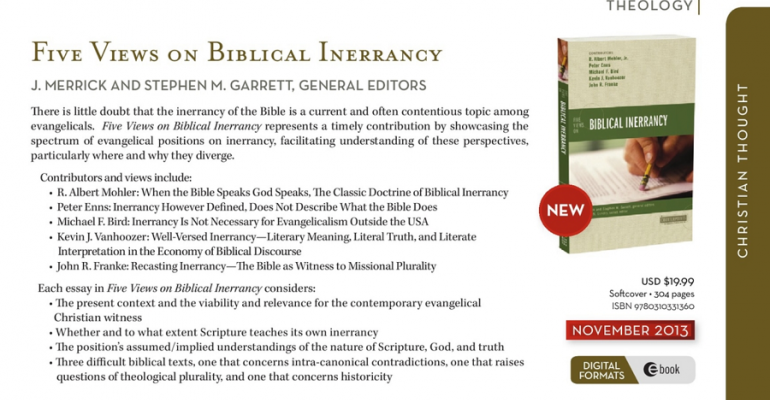 Five Views on Biblical Inerrancy: A Review image