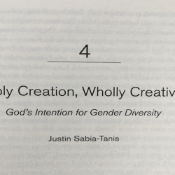 Sabia-Tanis: Holy Creation, Wholly Creative - A Response image