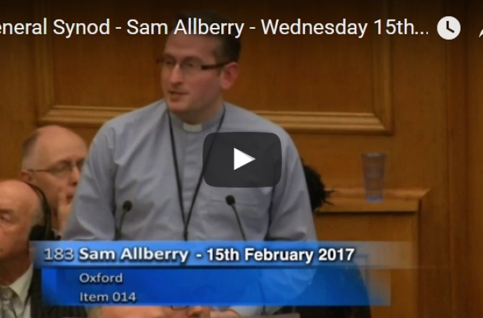 Sam Allberry, Synod and Same-Sex Attraction image