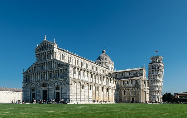 Cathedral of Pisa with leaning tower